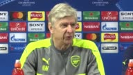 Arsenal Manager Arsene Wenger denies rift with player Alexis Sanchez Hertfordshire London Colney INT Arsene Wenger press conference SOT completely...