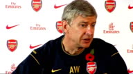 Arsenal press conference Arsene Wenger Wenger press conference SOT Talks about whether role of Director of Football can work at English clubs / At...