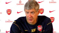 Arsenal press conference Wenger press conference SOT Missing many players in central midfield through injury at moment/Want to be able to show...