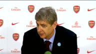 Arsenal v Liverpool postmatch press conference Wenger press conference SOT On Fabregas injury / On points Liverpool have dropped so far can drop more...