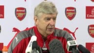 Arsene Wenger says Alexis Sanchez wants to stay at Arsenal Hertfordshire London Colney INT Arsene Wenger press conference SOT The players first have...