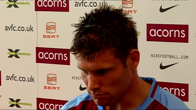 Aston Villa press conference Milner press conference SOT Transfer request was not made to engineer move to Aston Villa/Believes Newcastle are great...