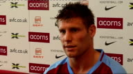 Aston Villa press conference Milner press conference SOT Always difficult moving clubs but has already been here and knows some of players and area...
