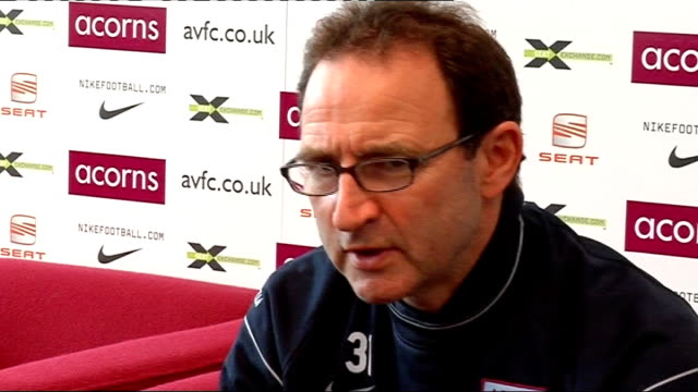 Aston Villa press conference O'Neill press conference SOT Need to be at very best to beat teams in top four/Scoring lots of goals at moment but also...