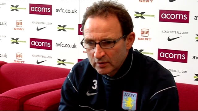 Aston Villa press conference O'Neill press conference setups O'Neill press conference SOT Delighted Milner has signed/Thought they had signed him two...
