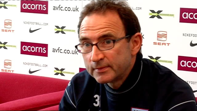 Aston Villa press conference O'Neill press conference SOT Delighted Barry is staying as he would have been difficult to replace/Finished sixth last...