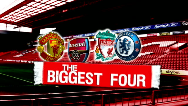 'Big Four' package UKNOWN ENGLAND Liverpool EXT Steven Gerrard training GFX copmaring big four teams in Premier League and their squads including...