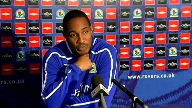 Blackburn Rovers press conference Ince press conference SOT Talks about sending off of Benni McCarthy against West Bromwich Albion / At moment...