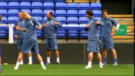 Bolton Wanderers training Bolton players training on pitch including Riga Mustapha Fabrice Muamba Shittu Nolan McCann Elmander Jaroslaw Fojut Megson...