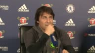 Chelsea prepare for match against Crystal Palace ENGLAND Surrey Cobham INT Antonio Conte press conference SOT Tomorrow is another derby it will be...