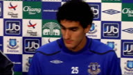 Everton FC press conference photocall with David Moyes and Marouane Fellaini ENGLAND Liverpool Goodison Park PHOTOGRAPHY *** David Moyes and Marouane...