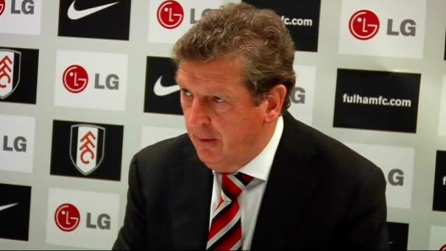 Fulham v West Ham United postmatch press conference ENGLAND London Craven Cottage INT Roy Hodgson press conference SOT On the result of the match /...