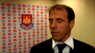 Gianfranco Zola interview ENGLAND London Upton Park INT Gianfranco Zola interview SOT On excitement at challenge of becoming West Ham boss / Exciting...