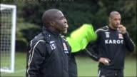 Hull City squad training Hull City players training including closeups of Ian Ashbee Welsh Bernard Mendy Paul McShane Sam Ricketts