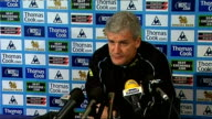 Manchester City press conference Mark Hughes Hughes press conference SOT On arguments for introduction of video technology / Believes there is...