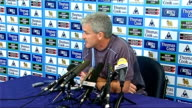 Manchester City press conference Mark Hughes Hughes press conference SOT Talks about faults in performance against Newcastle United / Believes team...