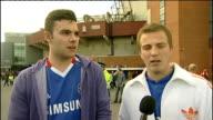 Premier League matches Vox pops Chelsea FC supporters