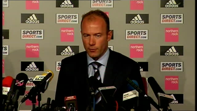 Newcastle United Shearer unveiled as new manager ENGLAND Newcastle St James's Park INT Alan Shearer press conference SOT Response from players and...