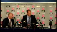 Shearer unveiled as Newcastle manager Shearer leaves press conference ENGLAND Newcastle St James's Park INT Alan Shearer seated next to Iain Dowie at...
