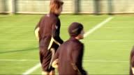 Tottenham Hotspur training Aaron Lennon kicking ball around / Darren Bent jogging and passing ball / Jonathan Woodgate jogging / Luka Modric...