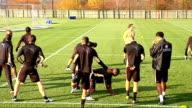 Tottenham Hotspur training David Bentley along and stretching / Darren Bent / Pavlyuchenko stretching / General views squad stretching and warming up...