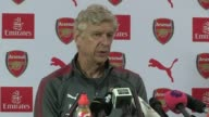 transfer window to close before start of season Hertfordshire London Colney INT Arsene Wenger press conference SOT
