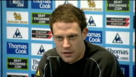 Wayne Bridge press conference ENGLAND Manchester INT Wayne Bridge press conference accompanied by Manchester City Manager Mark Hughes SOT discusses...