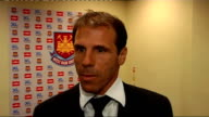 West Ham United Gianfranco Zola unveiled as manager Zola interview SOT Great opportunity and will work hard to make it success / Target to play...