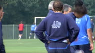 Wigan Athletic training session ENGLAND Wigan EXT Wigan Athletic training session including Wigan Manager Steve Bruce talking to players on training...