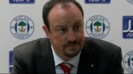 Wigan Athletic v Liverpool Benitez press conference ENGLAND Wigan JJB Stadium INT Rafa Benitez press conference SOT Have lost two points / Were much...