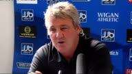 Wigan press conference Steve Bruce press conference SOT On Zola's arrival at West Ham foreign managers lack of English managers finance football is...