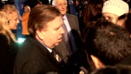 Premiere of film 'The Damned United' red carpet arrivals and interviews Timothy Spall interview SOT on filming on his new movie being suspended in...