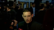 Premiere of Tintin film Frost speaking to press SOT On bumbling Thompson and Thomson / On motion capture / General views Jamie Bell ** Frost...