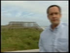 Preparations for hurricane Isabel i/c Waves PULL OUT couple chatting with Moore Norman Bibeau interviewed SOT Somethng new to me Moore asking woman...