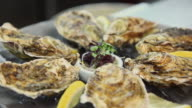 CU R/F Prepared oysters on plate / Port de Soller, Mallorca, Baleares, Spain
