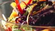 Preparing and Mixing Fresh Root Vegetable Salad