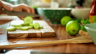 Preparing Asian Pickled Cucumber Salad