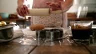 Preparing Gingerbread Cookies in Domestic Kitchen
