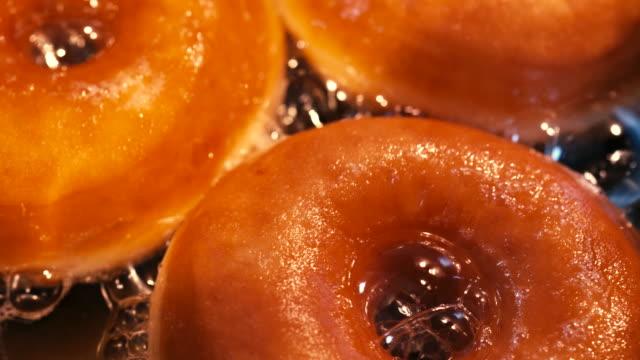 Preparing Homemade Donuts in Deep Fried Oil