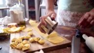 Preparing Homemade Tortellini Pasta