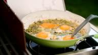 Preparing Indian Masala Fried Egg