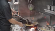 Preparing Meal In A Wok.