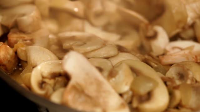Preparing mushroom  meal