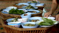 preparing of asian food for served