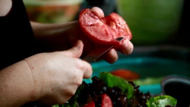Preparing Salad