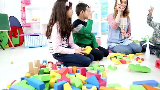 HD: Preschool Children Learning About Vegetables.