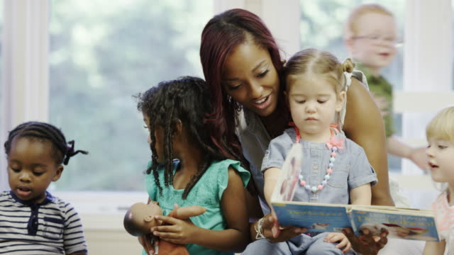 Preschool daycare centre with children