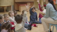 4K: Preschool teacher reading book to children