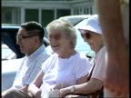 Prescription charges to rise R16079622 Isle of Wight EXT Old people sitting on benches in sun
