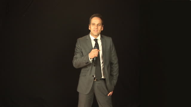 TV Presenter with microphone - HD & PAL